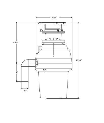 Model: XOD34PROBF | XO Ventilation 3/4 HP 10 Year Warranty, Batch Feed waste disposer -  3 Bolt Mounting