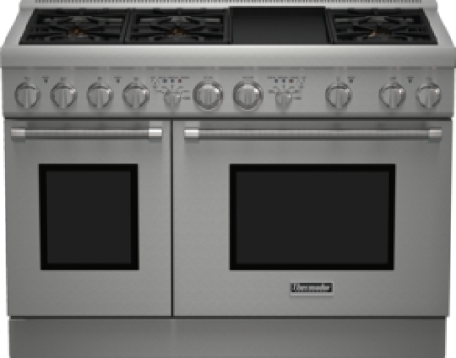 Model: PRD486GDHU | Thermador 48 inch Professional Series Pro Harmony Standard Depth Dual Fuel Range