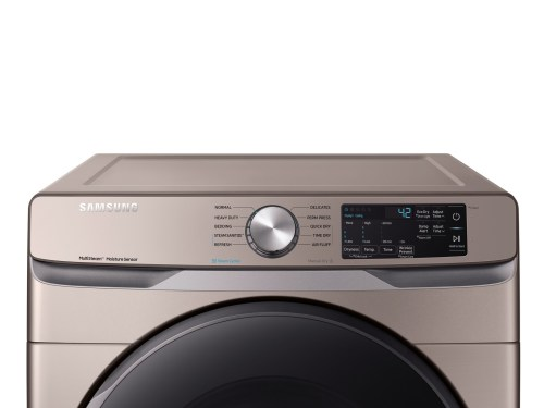 Model: DVE45R6100C | Samsung Front Load Electric Dryer with Steam Sanitize+  7.5 cu ft Capacity