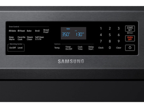 Model: NE59R6631SG | Samsung 5.9 cu. ft. True Convection Freestanding Electric Range
