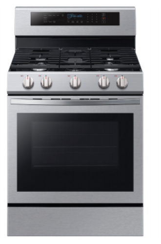 Samsung 5.8 cu. ft. True Convection Freestanding Gas Range with Illuminated Knobs in Stainless Steel