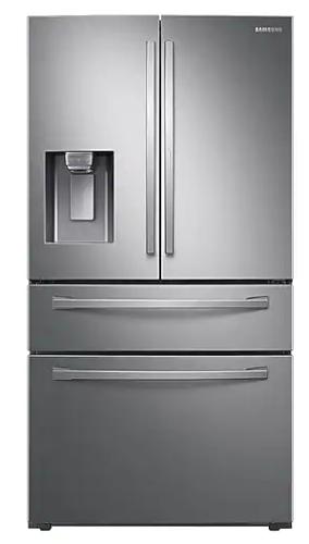 22 cu. ft. 4-Door French Door, Counter Depth Refrigerator with Food Showcase