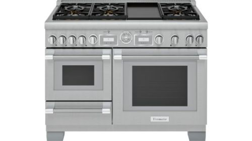 Thermador 48-Inch Pro Grand® Commercial Depth Dual Fuel Steam Range with Griddle