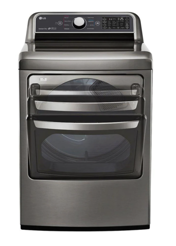 Model: DLE7300VE | LG 7.3 cu. ft. Ultra Large Capacity Smart wi-fi Enabled Top Load Electric Dryer with Sensor Dry Technology