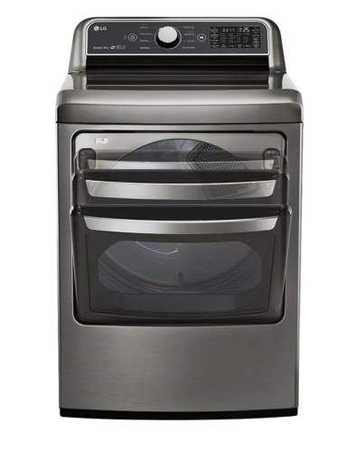 LG 7.3 cu. ft. Ultra Large Capacity Smart wi-fi Enabled Front Load Gas Dryer with Sensor Dry Technology