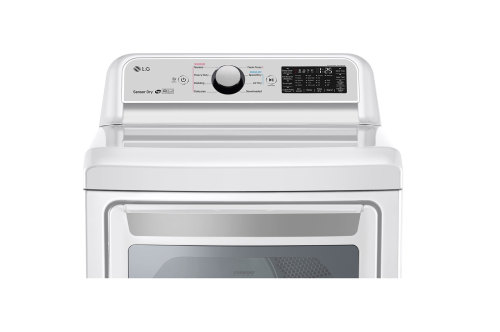 Model: DLG7301WE | LG 7.3 cu. ft. Smart wi-fi Enabled Gas Dryer with Sensor Dry Technology
