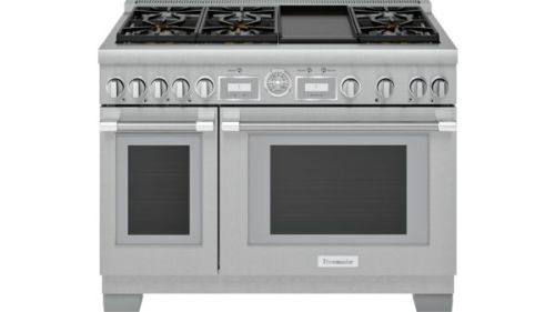 Model: PRG486WDG | Thermador 48-Inch Pro Grand® Commercial Depth Gas Range with Griddle