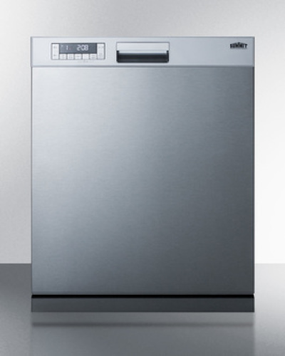 "Summit 24"" wide ENERGY STAR certified ADA compliant built-in dishwasher made in Europe a with stainless steel door and front controls"