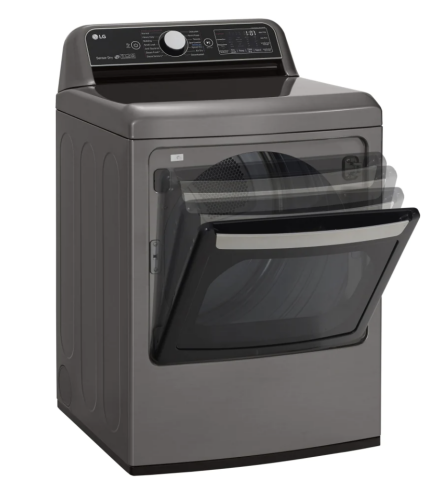 Model: DLEX7800VE | LG 7.3 cu. ft. Ultra Large Capacity TurboSteam™ E.ectric  Dryer with EasyLoad™ Door