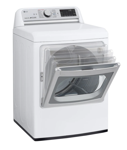 Model: DLEX7800WE | LG 7.3 cu. ft. Ultra Large Capacity TurboSteam™ Electric Dryer with EasyLoad™ Door