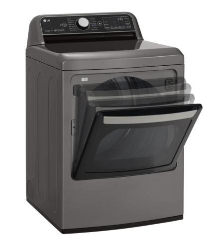Model: DLGX7801VE | LG 7.3 cu. ft. Ultra Large Capacity TurboSteam™ Gas Dryer with EasyLoad™ Door