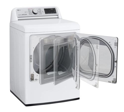 Model: DLGX7801WE | LG 7.3 cu. ft. Ultra Large Capacity TurboSteam™ Gas Dryer with EasyLoad™ Door