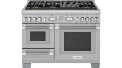 Thermador 48-Inch Pro Grand® Commercial Depth Dual Fuel Steam Range with Grill