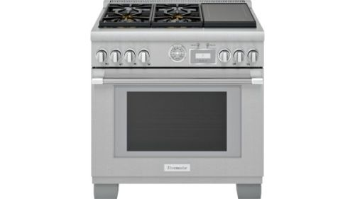 Thermador 36-Inch Pro Grand® Commercial Depth Dual Fuel Range with Induction Burners