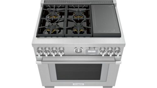Model: PRD364WIGU | Thermador 36-Inch Pro Grand® Commercial Depth Dual Fuel Range with Induction Burners