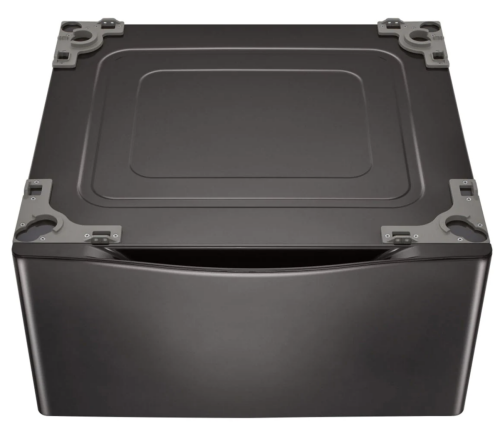 Model: WDP4B | LG Laundry Pedestal – Black Steel