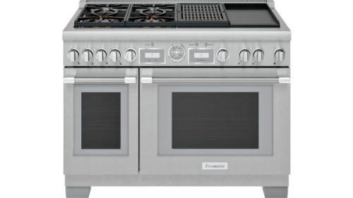 Model: PRD484WCGU | Thermador 48-Inch Pro Grand Commercial Depth Dual Fuel Range