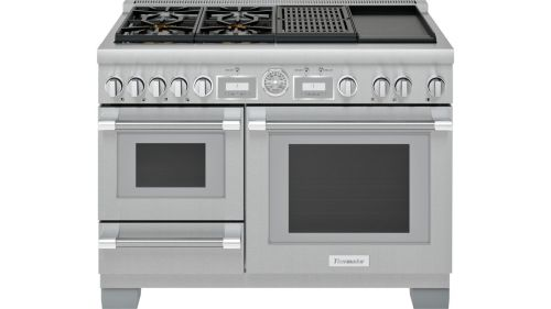 Thermador 48-Inch Pro Grand® Commercial Depth Dual Fuel Steam Range with Griddle & Grill