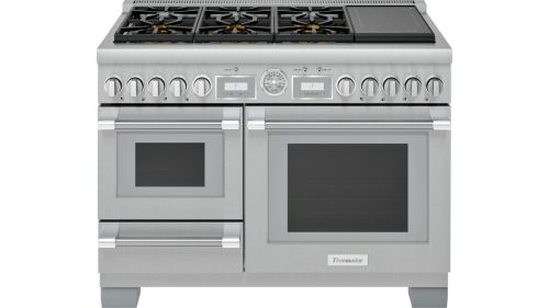 Thermador 48-Inch Pro Grand® Commercial Depth Dual Fuel Steam Range with Induction Burner