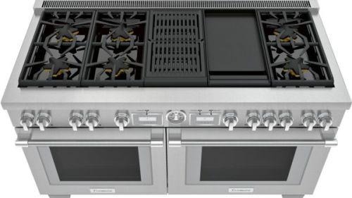 Model: PRD606WCG | Thermador 60-Inch Pro Grand® Commercial Depth Dual Fuel Range