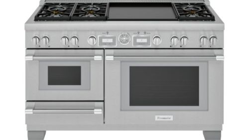 Model: PRD606WESG | Thermador 60 inch Professional Series Pro Grand Commercial Depth Dual Fuel Steam Range