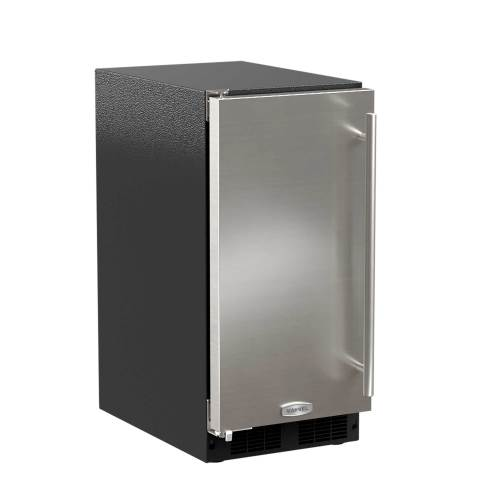 "Marvel  15"" ADA Height Clear Ice Machine -Factory Installed Pump Solid Stainless Steel Door, Left Hinge"