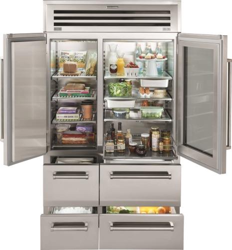 "Model: PRO4850G | Sub-Zero 48"" PRO Refrigerator/Freezer with Glass Door"