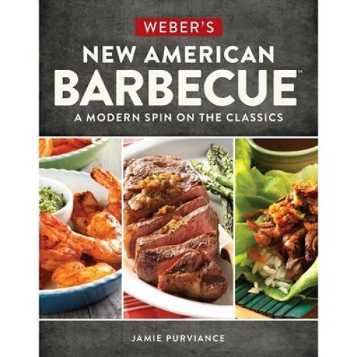 Weber 5 Weber's New American Barbecue™ cookbooks and 1 counter displayer.