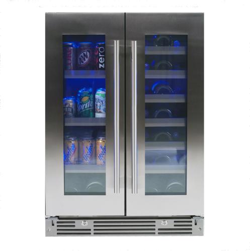 """XO Appliances 24"""" Beverage/Wine Double Door"""