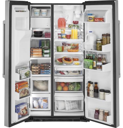 Model: CZS22MP2NS1 | Cafe Café™ 21.9 Cu. Ft. Counter-Depth Side-By-Side Refrigerator