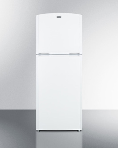 """Summit Counter depth frost-free refrigerator-freezer in white with a 26"""" footprint and reversible doors"""