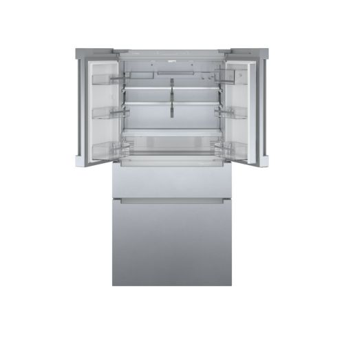 Model: B36CL80ENS | Bosch 800 Series French Door Bottom Mount Refrigerator Easy clean stainless steel