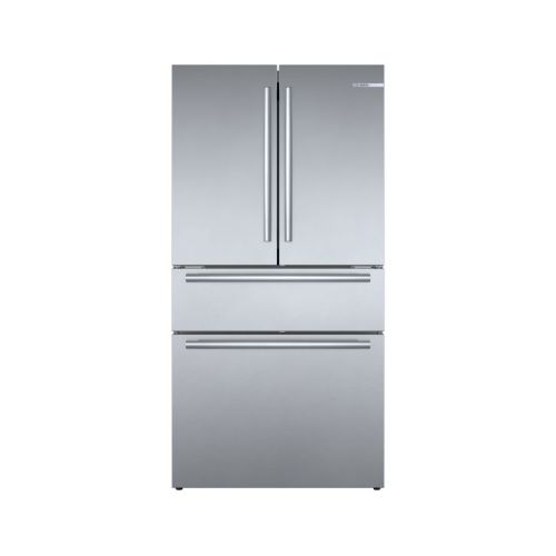 Bosch 800 Series French Door Bottom Mount Refrigerator Easy clean stainless steel