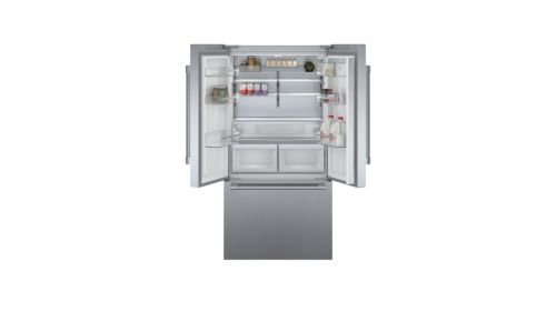 Model: B36CT81SNS | Bosch 800 Series French Door Bottom Mount Refrigerator Easy clean stainless steel