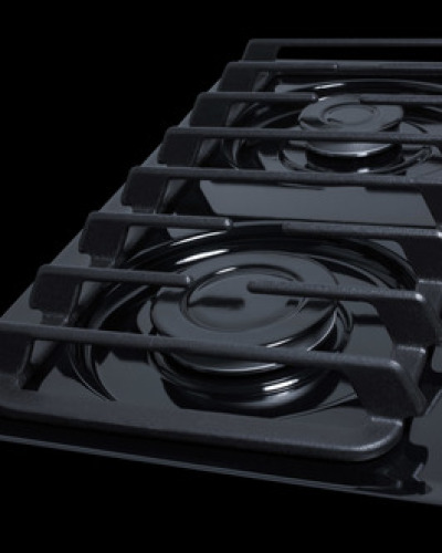 "Summit 24"" wide 4-burner cooktop"