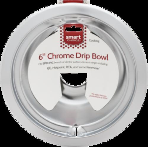Frigidaire Smart Choice 6'' Chrome Drip Bowl, Fits Specific