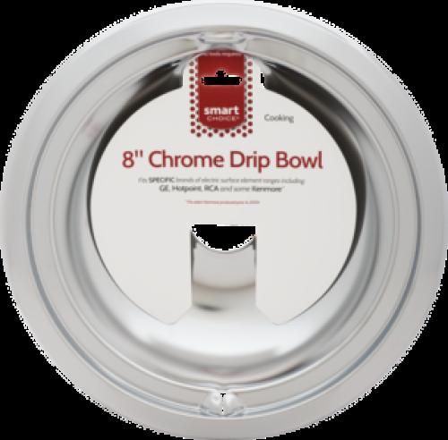 Frigidaire Smart Choice 8'' Chrome Drip Bowl, Fits Specific