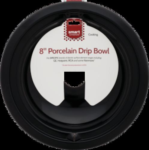 Frigidaire Smart Choice 8'' Black Porcelain Drip Bowl, Fits Specific