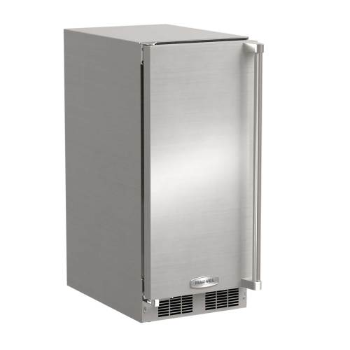 "Marvel  15"" Outdoor Clear Ice Machine- Left Hinge"