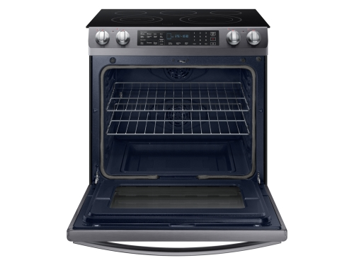 Model: NE58R9431SG | Samsung 5.8 Cubic Foot Slide-in Electric Range with Duel Convection
