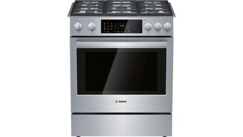 Bosch 800 Series Dual Fuel Slide-in Range 30'' Stainless steel