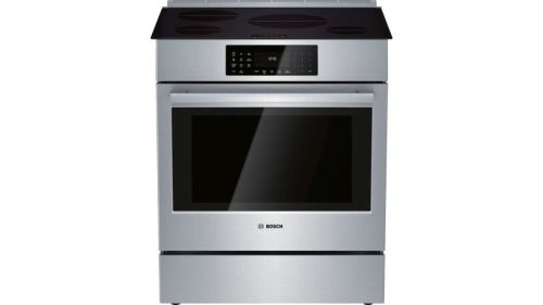 Bosch 800 Series Induction Slide-in Range 30'' Stainless steel