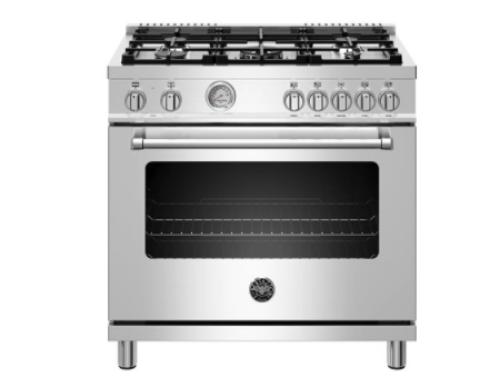 "Bertazzoni 36""  Dual Fuel Range, 5 Burner, Electric Oven-Master Series"