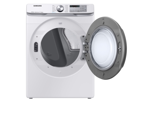 Model: DVE50R8500W | Samsung 7.5 cu. ft. Smart Electric Dryer with Steam Sanitize+