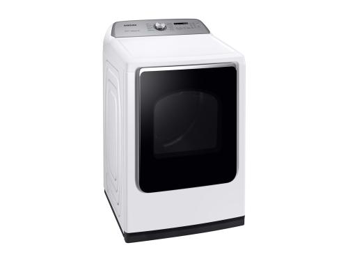 Model: DVE54R7600W | Samsung 7.4 cu. ft. Electric Dryer with Steam Sanitize+