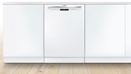 """Model: SHE878ZD2N   Bosch 24"""" 800 Series Recessed Handle Dishwasher"""