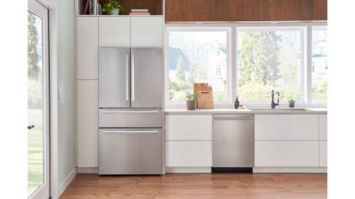 "Model: SHXM65Z55N | Bosch 24"" 500 Series Bar Handle Dishwasher"