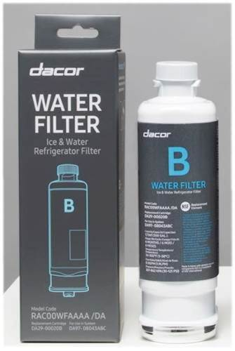 Model: RAC00WFAAAA | Dacor Water Filter
