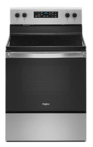 Model: WFE505W0JS   Whirlpool 5.3 cu. ft. Whirlpool® electric range with Frozen Bake™ technology