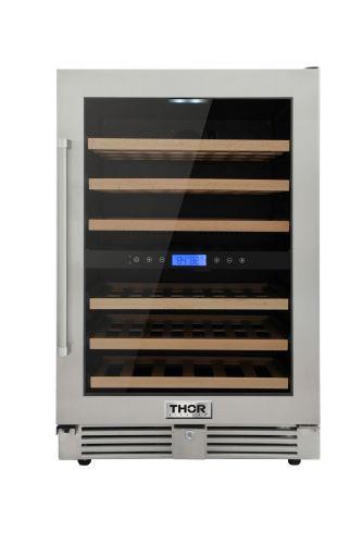 Thor 24 in. 46-Bottles Indoor/Outdoor Independent Dual Zone Wine Cooler